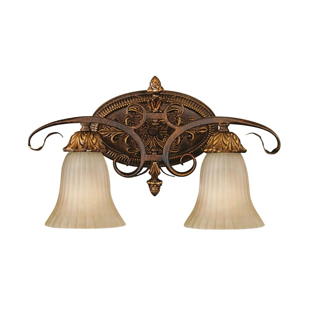Sonoma Valley Double Up Down Wall Light In A Aged Tortoise